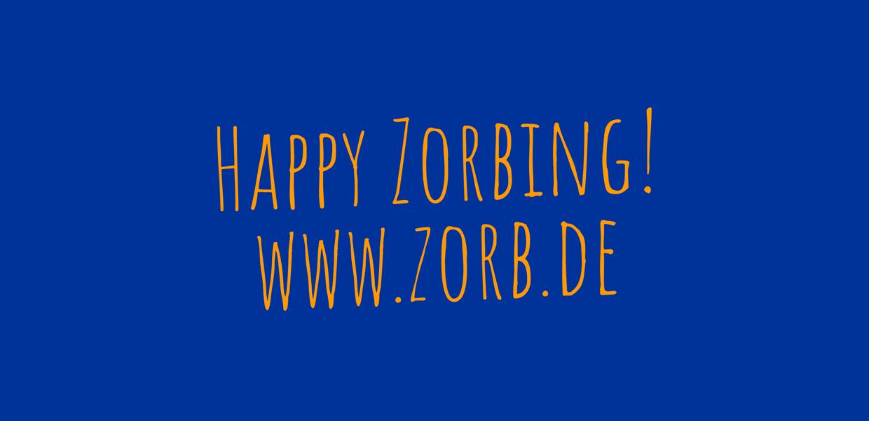 Das blaue Logo von Zorb Europe